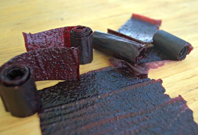 Homemade Fruit Leather - a great after-school snack or lunchbox treat!