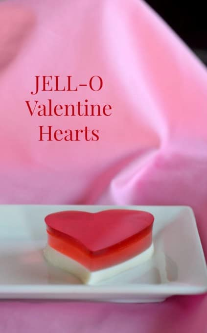 JELL-O Valentine Hearts - a layered gelatin treat for your sweet this holiday.