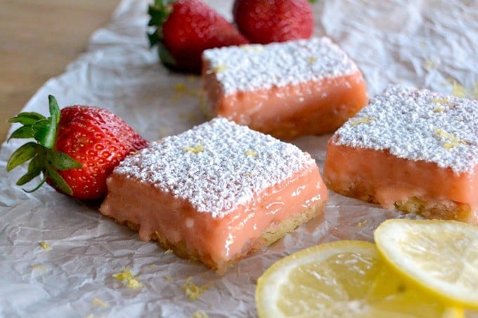 Strawberry Lemonade Bars - 365 Days of Baking and More