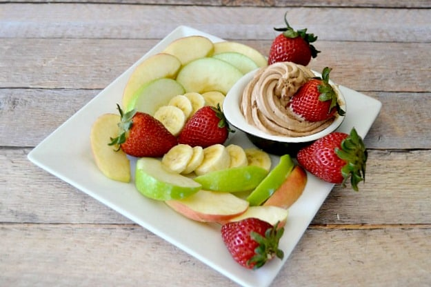 Chocolate Peanut Butter Fruit Dip - a great after-school snack or party appetizer!