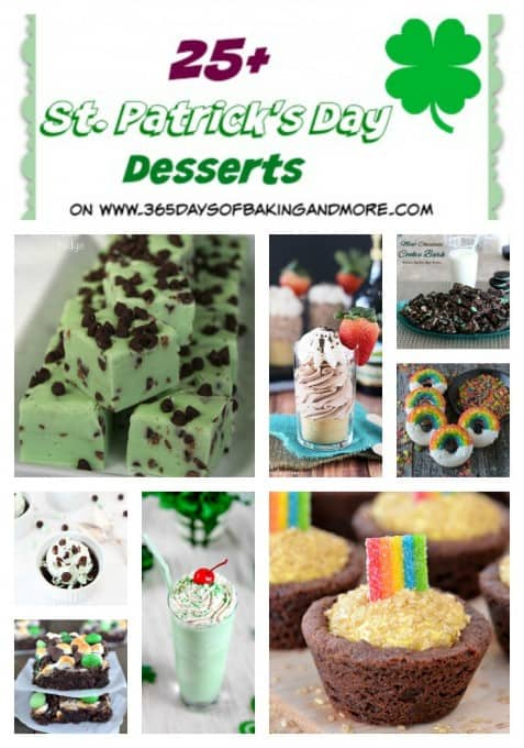 25+ St. Patrick's Day Dessert Recipes on 365 Days of Baking and More