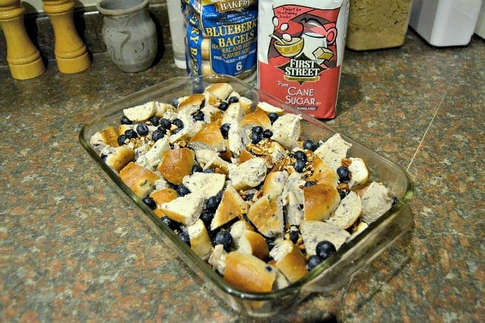 Blueberry Bagels, fresh blueberries and pecans combined for a delicious breakfast treat!