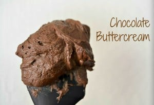 A rich chocolate buttercream frosting perfect for cakes, cupcakes and cookie cups!