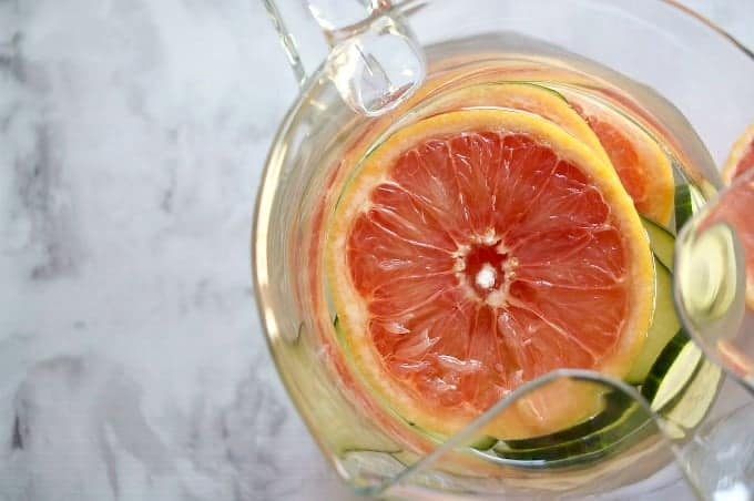 Cucumber Grapefruit Water - a refreshing way to boost your health, keep you hydrated, and a great change from drinking regular water!