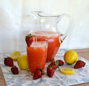 Strawberry Lemonade - the perfect combination of strawberries and lemons for a great summertime treat!