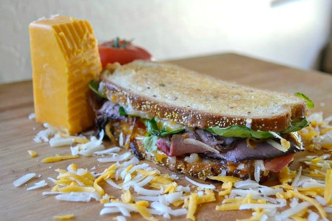 The Ultimate Grilled Cheese Roast Beef