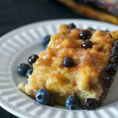 Baked Blueberry Waffles - prepare them the night before and breakfast is ready in a snap the next morning!