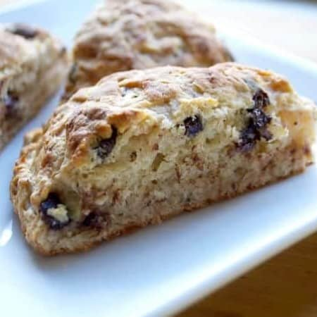 Banana Chocolate Scones - the perfect treat with breakfast or brunch.
