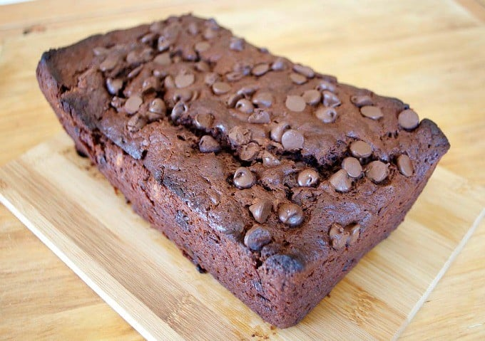 A banana bread made with the chocolate lover in mind!