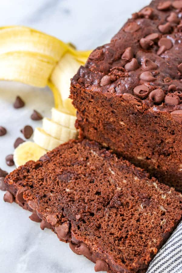 Double Chocolate Banana Bread.