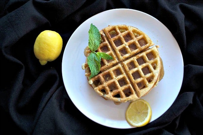 Dairy-Free Lemon Poppy Seed Waffles - the perfect treat for a weekend breakfast or brunch and their dairy-free!