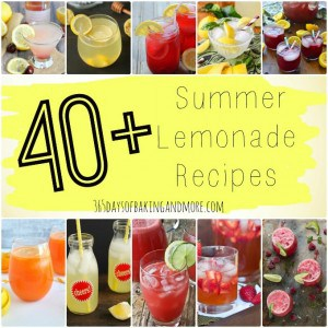 More than 40 Summer Lemonade Recipes