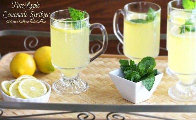 Pine-Apple Lemonade Spritzer