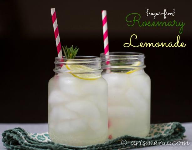 Sugar Free Rosemary Lemonade