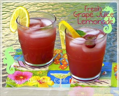 Fresh Grape Juice Lemonade