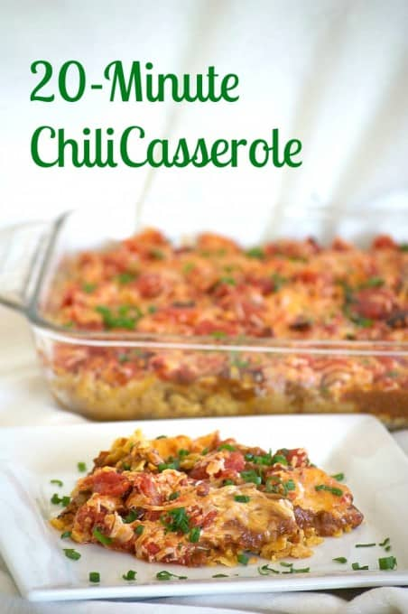 20 minute chili casserole stock your pantry with canned goods and make this chili casserole for dinner in just 20 forumfinder Images