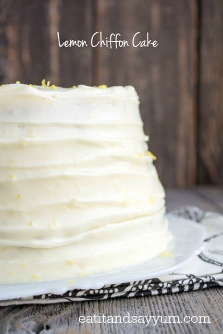 Lemon Chiffon Cake from Eat It & Say Yum