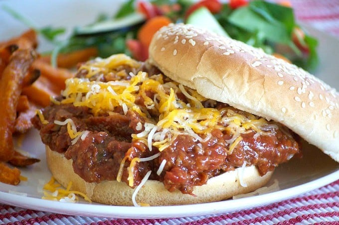 The perfect sloppy joe made in a slow cooker!
