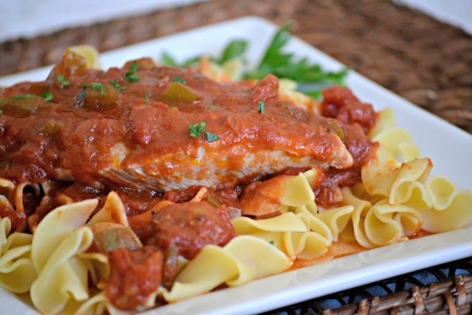 An easy dinner, this chicken dish is delicious served over noodles, pasta or rice!