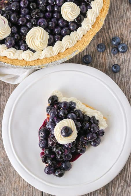 A slice of blueberry pie that doesn't require an oven!