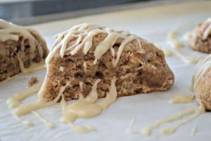 Fresh apple, cinnamon and nutmeg make these scones a fantastic breakfast treat or wonderful tea accompaniment.