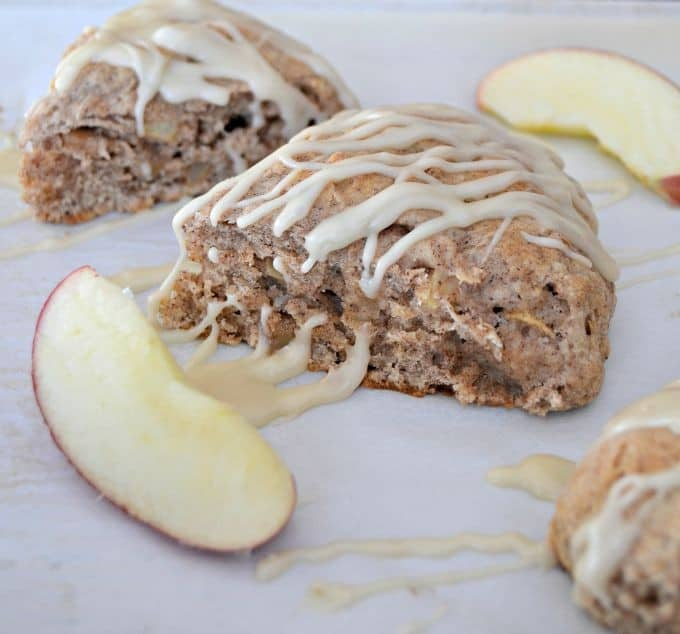 Fresh apple, cinnamon and nutmeg make these scones a fantastic breakfast treat or wonderful tea accompaniment.