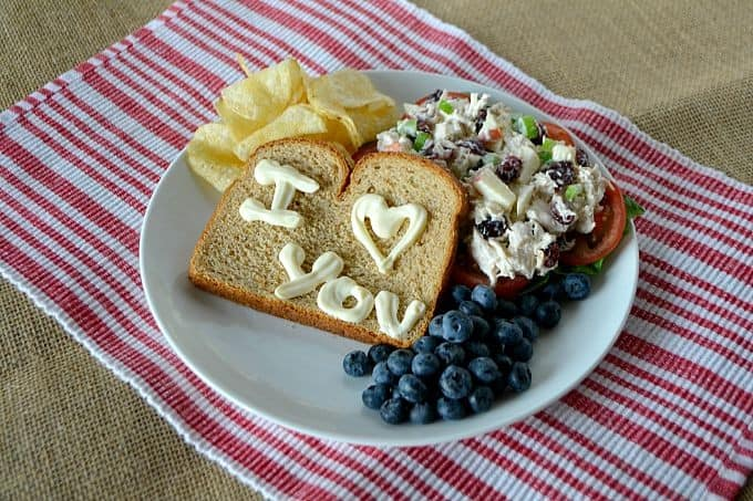 Add some love notes to your lunch - Cranberry Apple Chicken Salad