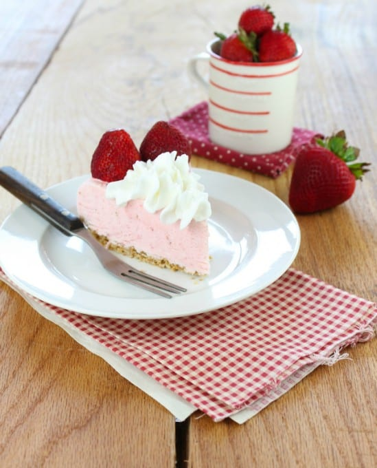 Strawberry Cheesecake Ice Cream Pie – Miss In the Kitchen