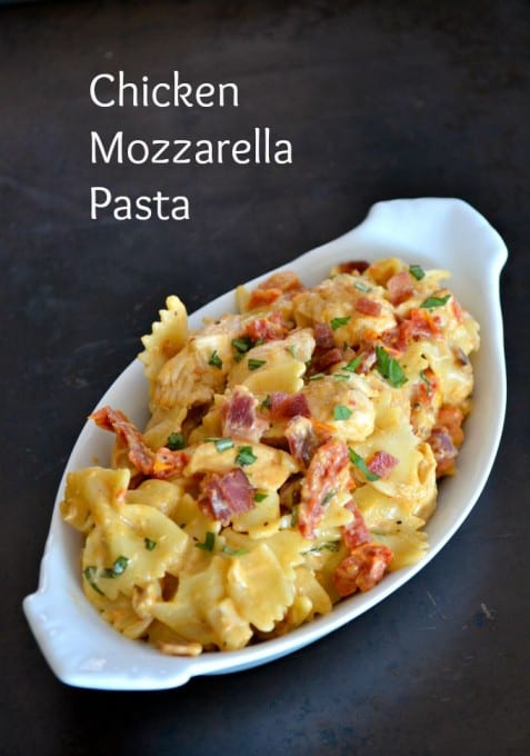 Chicken Mozzarella Pasta - 365 Days of Baking and More
