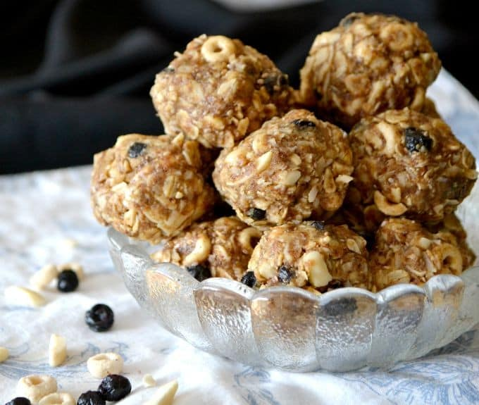 A variety of flavors from great ingredients make these no-bake peanut butter energy bites not only delicious, but great for those lunch boxes as well!