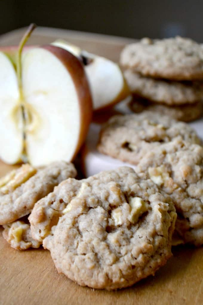 That old-fashioned oatmeal cookie with the added flavor of peanut butter and some chopped apple.
