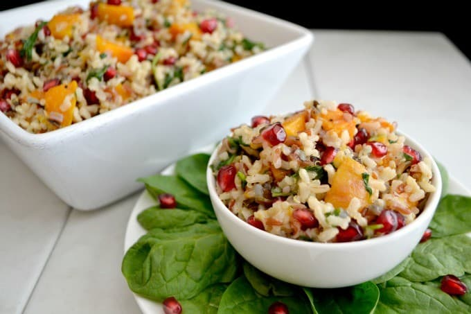 Delicious Fall foods tossed with Minute Multi-Grain Medley and an Orange Vinaigrette make this a tasty and colorful holiday side dish.