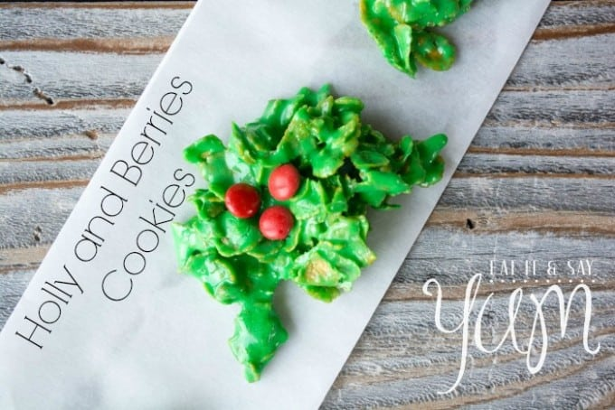 Holly and Berry Wreath Cookies
