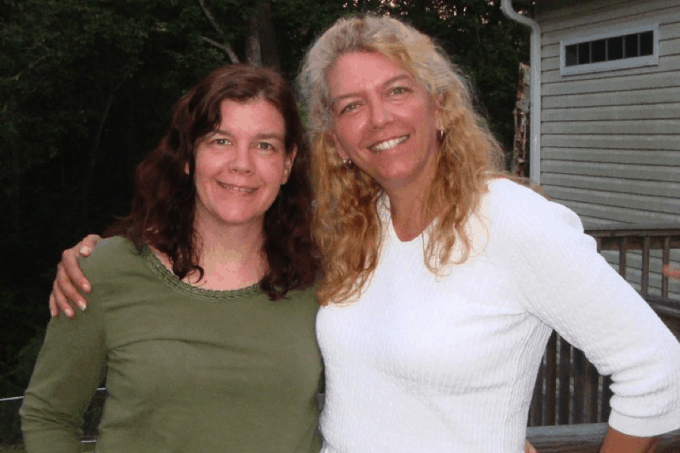 Joan Hayes of Chocolate, Chocolate and More and her sister, Gail