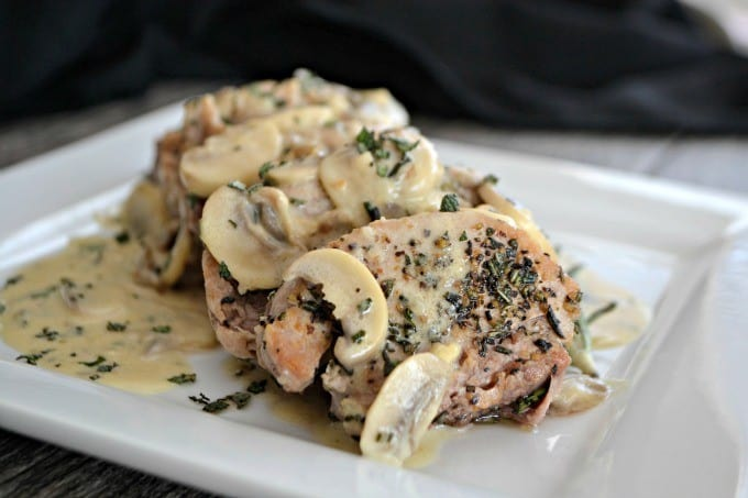 Soft, juicy and very flavorful, these Rosemary Pork Medallions with a Mushroom Wine Sauce will be an easy and delicious weeknight dinner!