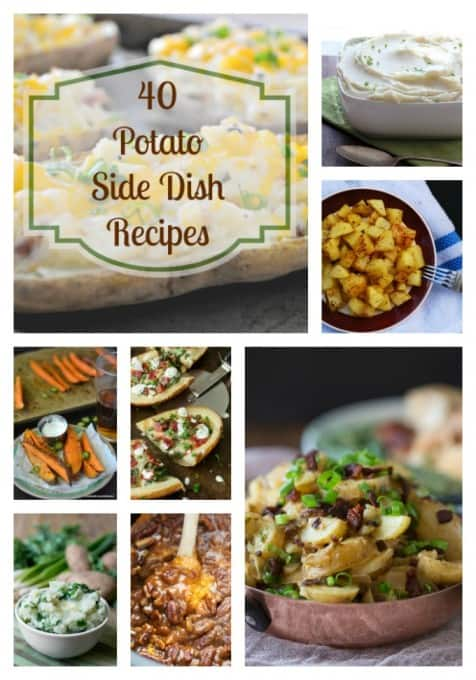 Here are 40 potato side dishes to serve with your Thanksgiving turkey or along side that holiday ham. There's something everyone will enjoy!