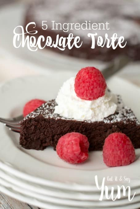 5 Ingredient Chocolate Torte- choose your own toppings