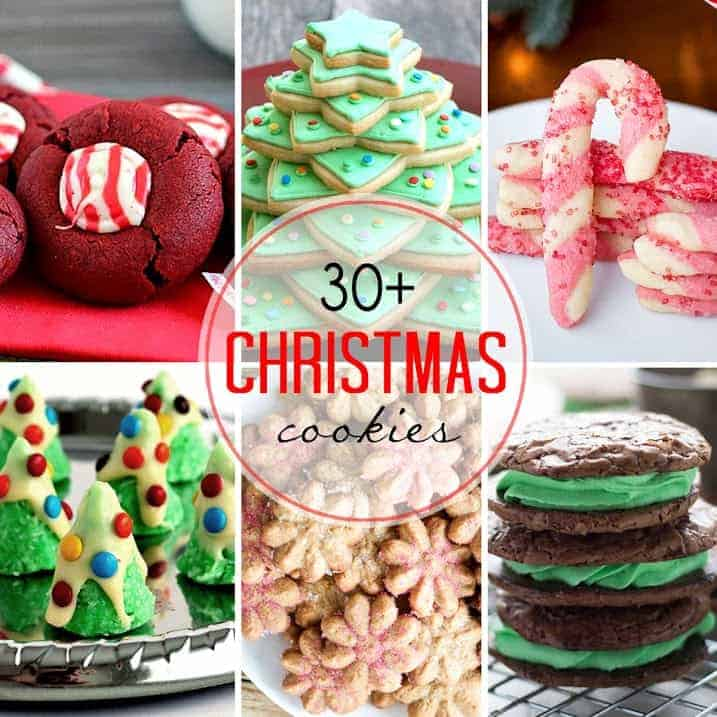 More than 30 holiday cookies for gift giving or cookie trays!