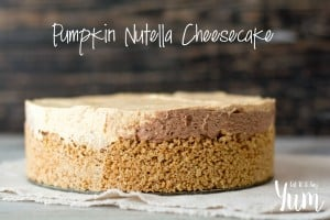 No-Bake Pumpkin Nutella Cheesecake