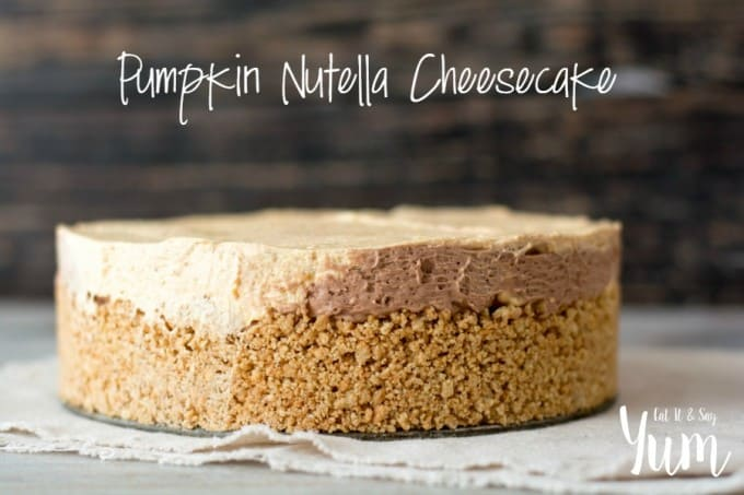 The great taste of pumpkin with a chocolate hazelnut spread make this No-Bake Pumpkin Nutella Cheesecake an easy menu addition for your holiday gathering.