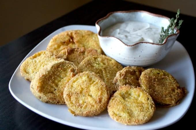 Kick the flavor up by adding Ranch dressing mix to your Fried Green Tomatoes.