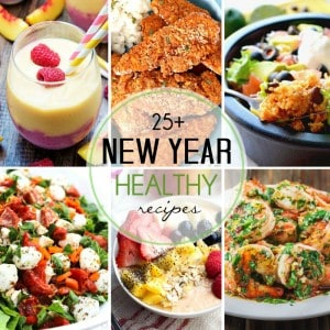 More than 25 healthy recipes to get you started in the New Year or before!