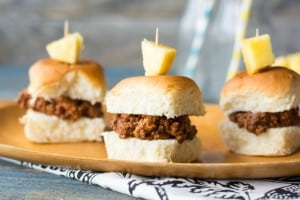 These sloppy joes are made into sliders and have the taste of the Hawaiian islands. They're perfect for your next part or Game Day get together.