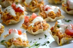 Chicken Enchilada Bites