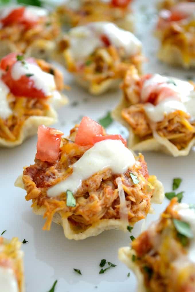 Chicken Enchilada Bites {365 Days of Baking}