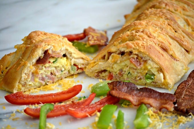 A delicious treat for breakfast and a new take on a Denver Omelet, this braid is full of flavor and is really very easy to make.