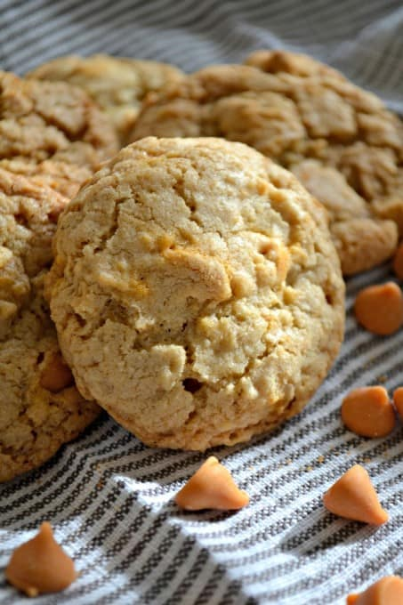 Oatmeal Cookies with the fun addition of butterscotch chips!
