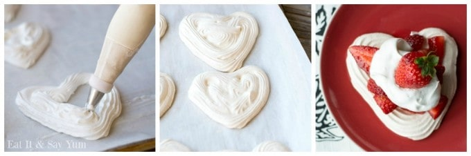 Piping Heart Shaped Meringues