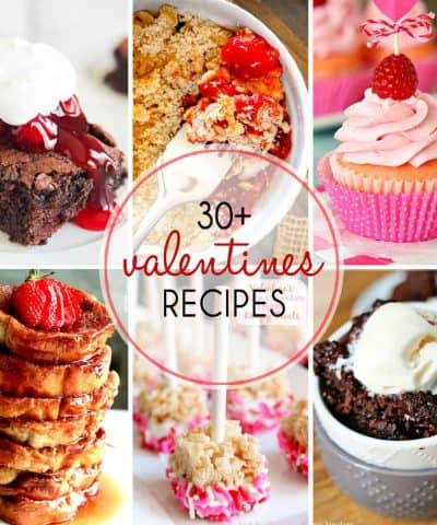 30+ Valentine's Day Recipes including French toast, cookies, cheesecake, crepes, cake, cupcakes and more, there's sure to be something to please your sweetheart!