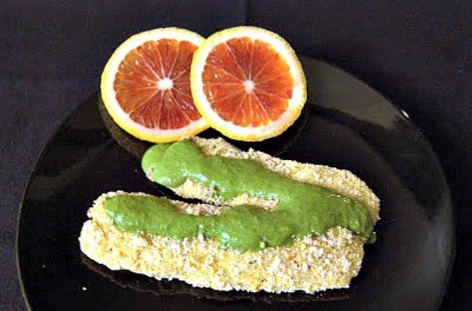 Breaded Tilapia with Cilantro Citrus Sauce